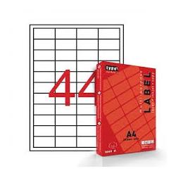 Διαφανείς αυτοκόλλητες ετικέτες εκτυπωτών Α4 48.5x25.4mm