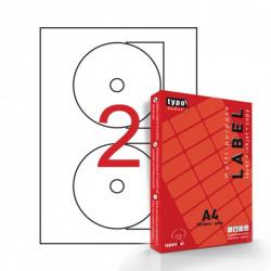 Αυτοκόλλητες ετικέτες εκτυπωτών Α4 για CD 117mm