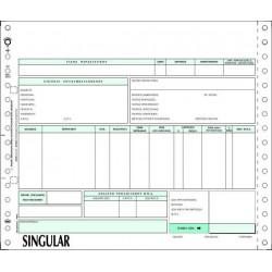 Μηχανογραφικό προτυπωμένο τιμολόγιο για Singular Διπλότυπο 80001