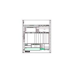Μηχανογραφικό προτυπωμένο τιμολόγιο για Singular διπλότυπο 80005