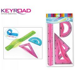 Γεωμετρικά όργανα σετ KEYROAD FLEXIBLE