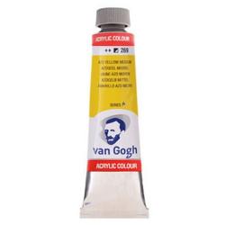 Ακρυλικό χρώμα ζωγραφικής VAN GOGH 40ml AZO YELLOW MEDIUM 269