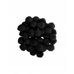 POM POMS MONDI Black 25mm...