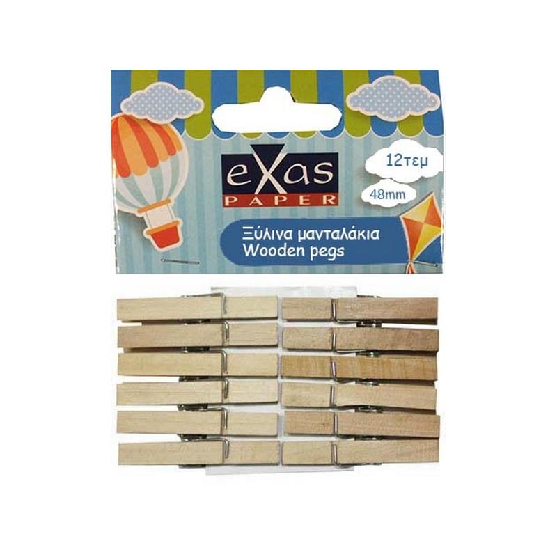 Μανταλάκια ξύλινα 48mm