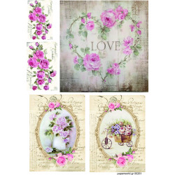 Decoupage soft paper 0261