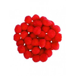 POM POMS MONDI red 25mm...
