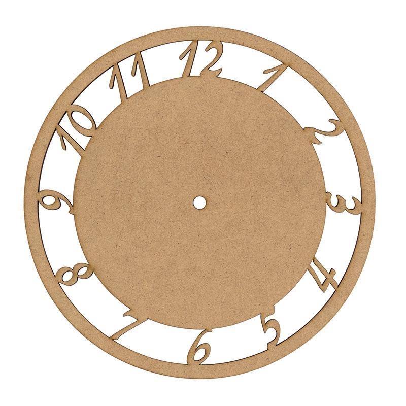 Ρολόι στρογγυλό MDF 25cm