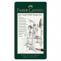 Σετ 12 μολύβια σχεδίου FABER-CASTELL 119065