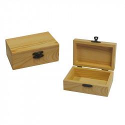 Κουτάκι ξύλινο 11,5x7,5x5,5cm 24271