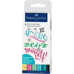 Μαρκαδόροι FABER CASTELL INDIA INK PITT ARTIST LETTERING 267116 PASTEL