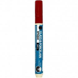 Μαρκαδόρος πορσελάνης και γυαλιού DARK RED 2-4mm, 31327
