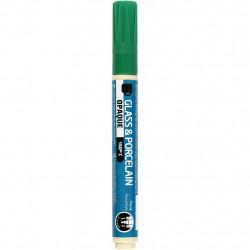 Μαρκαδόρος πορσελάνης και γυαλιού GREEN 2-4mm, 31330
