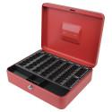Χρηματοκιβώτιο με κερματοθήκη B-R 17x25cm RED