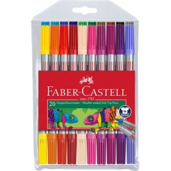 FABER CASTELL 151119 DOUBLE ENDED FELT TIP PEN