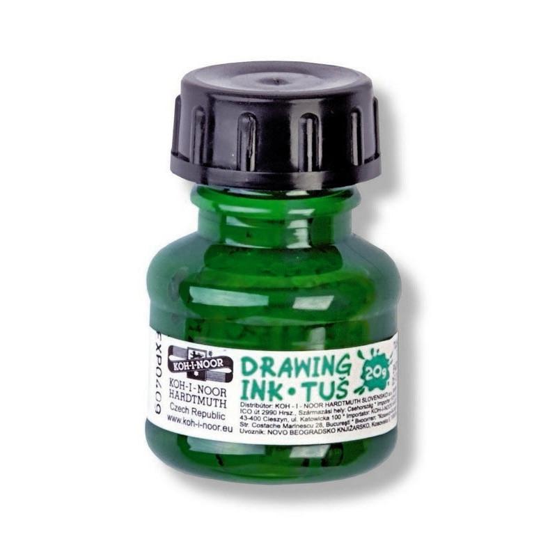Σινική μελάνη KOH-I-NOOR 20ml πράσινη