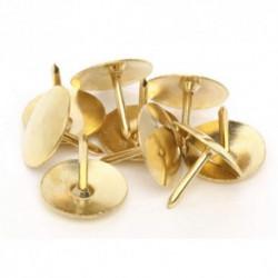 Πινέζες χρυσές μεταλλικές