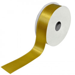 Satin ribbon gold 2.5cm x 23m