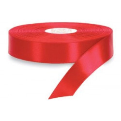 Satin ribbon red 2.5cm x 23m