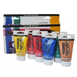 Σετ ακρυλικών DALER-ROWNEY METALLIC 6x75ml