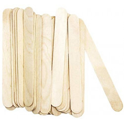 Handicraft sticks in natural color 15cm, 80 pieces