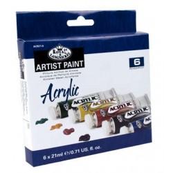 Ακρυλικά χρώματα ROYAL & LANGNICKEL 6x21ml