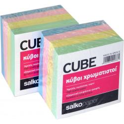 Χαρτάκια κύβου χρωματιστά 90x90 SALKO