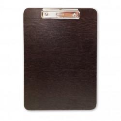 Πινακίδα με πιάστρα ξύλινη σκούρα Α4