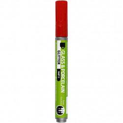 Μαρκαδόρος πορσελάνης και γυαλιού RED GLITTER 31303