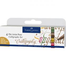 FABER CASTELL PITT ARTIST PENS CALLIGRAPHY SET 167505