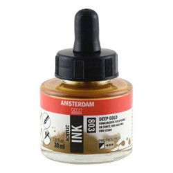 Acrylic ink AMSTERDAM 803 DEEP GOLD 30ml