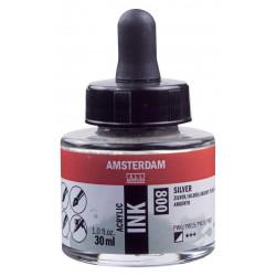 Ακρυλικό μελάνι AMSTERDAM 800 SILVER 30ml