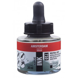 Acrylic ink AMSTERDAM 710 NEUTRAL GREY 30ml