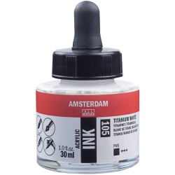 Acrylic ink AMSTERDAM 105 WHITE 30ml