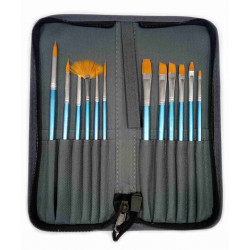 Painting brushes ARTMATE BH-12S set of 12pieces in case