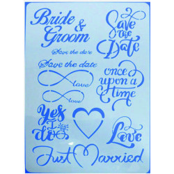 Stencil A4 BRIDE & GROOM 15071