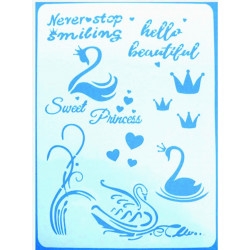 Stencil A4 SWEET PRINCESS