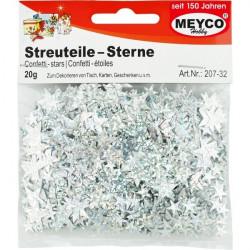 Silver crafts stars MEYCO...