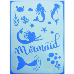 Stencil A4 MERMAID