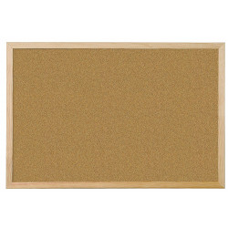 Cork board with wooden...