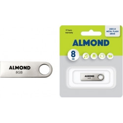 USB STICK ALMOND 8GB METAL MINI