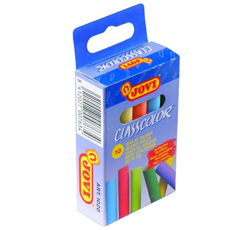 Κιμωλίες χρωματιστές JOVI 10 τεμάχια