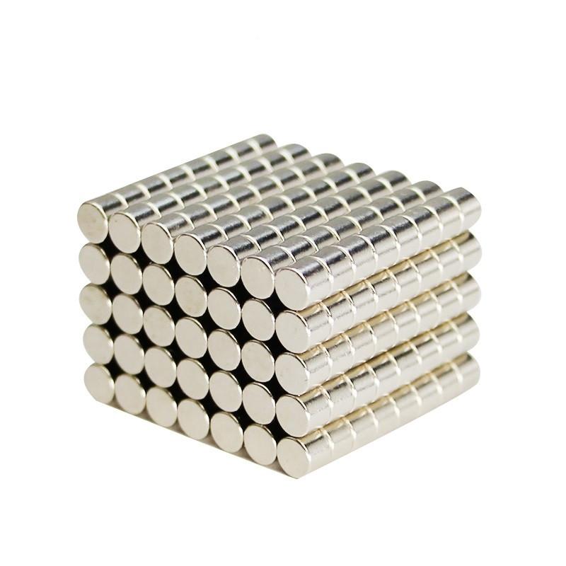 Μαγνήτες στρογγυλοί 4mmx3mm σετ 25 τεμαχίων