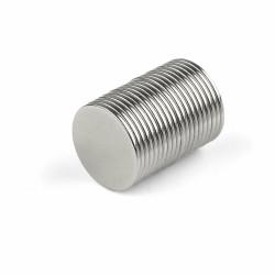 Μαγνήτες στρογγυλοί 15mmx1mm σετ 25 τεμαχίων