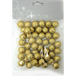 Μπάλες φελιζόλ GOLD GLITTER 1,5cm