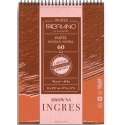 Μπλοκ INGRES BROWNS FABRIANO A4, 60 φύλλων
