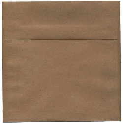 Kraft envelope dark squares...