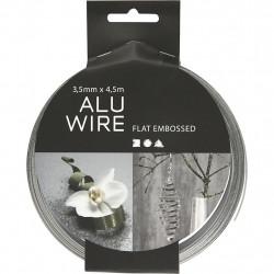 Σύρμα αλουμινίου ασημί 2mm με κρυσταλλάκια 518305