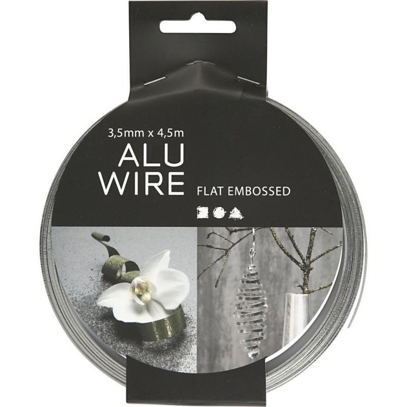 Σύρμα αλουμινίου ασημί 2mm με κρυσταλλάκια 518303