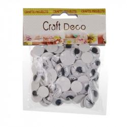 Ματάκια αυτοκόλλητα CRAFT DECO με βλεφαρίδες