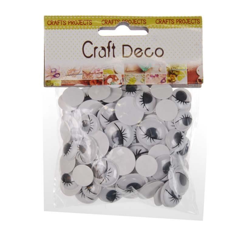 Ματάκια αυτοκόλλητα CRAFT DECO